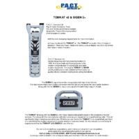 P.A.C.T. SIGEN 2+ Signal Transmitter and V2 TOMKAT - Datasheet
