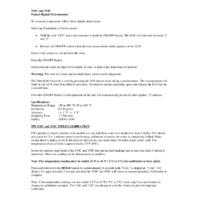 TPI 318C & 319C  Pocket Digital Thermometers - Instruction Sheet