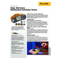 Fluke 1662 Multifunction Installation Tester - Datasheet