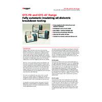 Megger OTSAF Laboratory Oil Testers - Datasheet