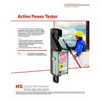 HD Electric APT-1 Active Power Tester - Datasheet