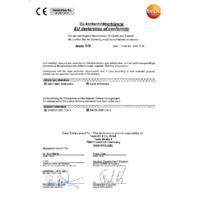 Testo 110-1 1-Channel NTC Digital Thermometer - EU Declaration of Conformity