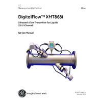 GE Druck DigitalFlow XMT868i Liquid Flow Transmitter - Service Manual