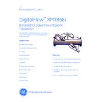 GE Druck DigitalFlow XMT868i Liquid Flow Transmitter - Datasheet