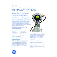 GE Druck PanaFlow XMT1000 Ultrasonic Flow Transmitter - Datasheet
