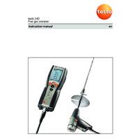 Testo 340 Flue Gas Analyser - Instruction Manual
