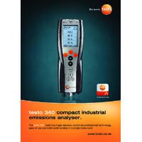 Testo 340 Flue Gas Analyser - Brochure