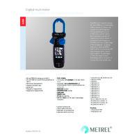 Metrel MD9226 True-RMS AC-DC Current Clamp Meter - Datasheet