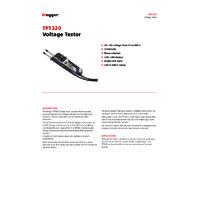 Megger TPT320 Voltage Tester - Datasheet