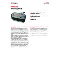 Megger MPU690 Proving Unit - Datasheet