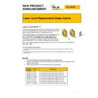 Fluke PLS Laser Level Replacement Glass Inserts - Announcement