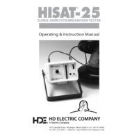 HD Electric Hi-Test HISAT-25 MOV Arrester and Leakage Tester – User Manual