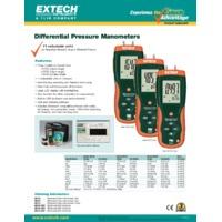 Extech HD755 Differential Pressure Manometer - Datasheet