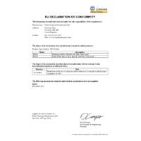 Comark Pro1 Penetration Probe - Declaration of Conformity