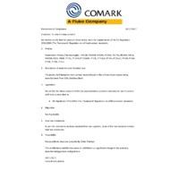 Comark Pro1 Penetration Probe - Declaration of Compliance
