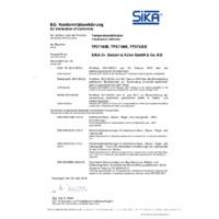 Sika TP37 Dry Block Temperature Calibrators - Declaration of Conformity