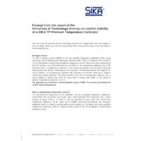 Sika TP37 Dry Block Temperature Calibrators - Stability Report Excerpt