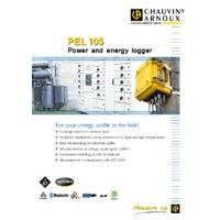 Chauvin Arnoux PEL105 All-Terrain Power & Energy Logger - Datasheet