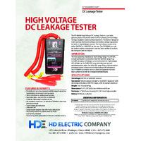 HD Electric PT-5000W High Voltage DC Leakage Tester - Datasheet