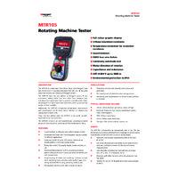 Megger MTR105 Handheld Static Motor Tester - Datasheet