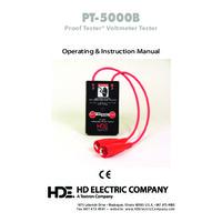 HD Electric PT-5000B ProofTester® Voltmeter Tester - Instruction Manual