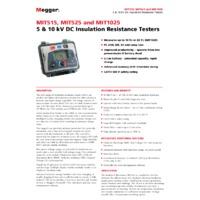 Megger MIT500 Series Datasheet