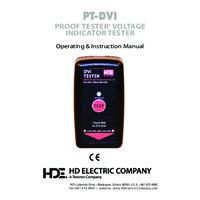 HD Electric PT-DVI Proof Tester for DVI Voltage Indicators - Instruction Manual