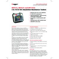 Megger MIT515 Insulation Resistance Tester - Datasheet