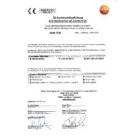 Testo 510i Bluetooth Differential Pressure Gauge Smart Probe & Data Logger - Declaration of Conformity