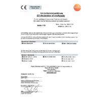 Testo 115i Bluetooth Clamp Thermometer Smart Probe & Data Logger - Declaration of Conformity