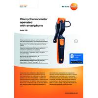 Testo 115i Bluetooth Clamp Thermometer Smart Probe & Data Logger - Datasheet