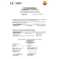 Testo 405i Bluetooth Thermal Anemometer Smart Probe & Data Logger - Declaration of Conformity