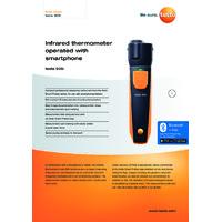 Testo 805i Bluetooth Infrared Thermometer Smart Probe & Data Logger - Datasheet