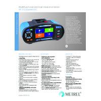 Metrel MI3152 EurotestXC Multifunction Installation Tester - Datasheet