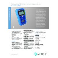Metrel MI3125BT1 Eurotest Combo Bluetooth Multifunction Tester - Datasheet