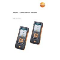 Testo 440 Air Velocity and IAQ Tester - Instruction Manual