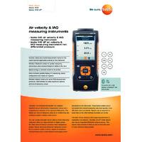 Testo 440 Air Velocity and IAQ Tester - Datasheet