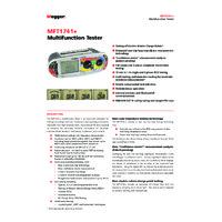 Megger MFT1741+ Multifunction Tester - Datasheet