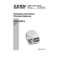 Kern EMB-S Precision School Balances - Operating Instructions