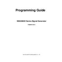 Siglent SSG3000X RF Signal Generators - Programming Guide
