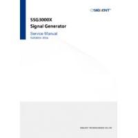 Siglent SSG3000X RF Signal Generators - Service Manual