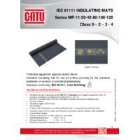 CATU insulating mats
