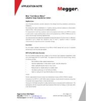 Megger MFT1741 Multifunction Tester - Application Note for Confidence Meter