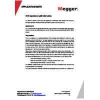 Megger MFT1741 Multifunction Tester - Application Note for RCD Impedance Uplift Elimination