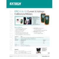 Extech PRC10 and PRC15 Calibrator Datasheet