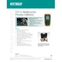 Extech PRC30 Multifunction Process Calibrator Datasheet