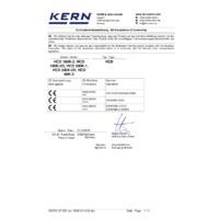 Kern HCD High-Resolution Crane Scales - Declaration of Conformity