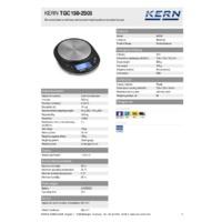 Kern TGC 150-2S05 Pocket Balance - Technical Specifications