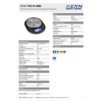 Kern TGC 1K-3S05 Pocket Balance - Technical Specifications