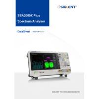 Siglent SSA3000X Plus Spectrum Analysers - Datasheet